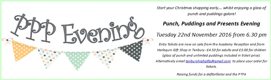 Punch, Puddings, and Presents Evening!
